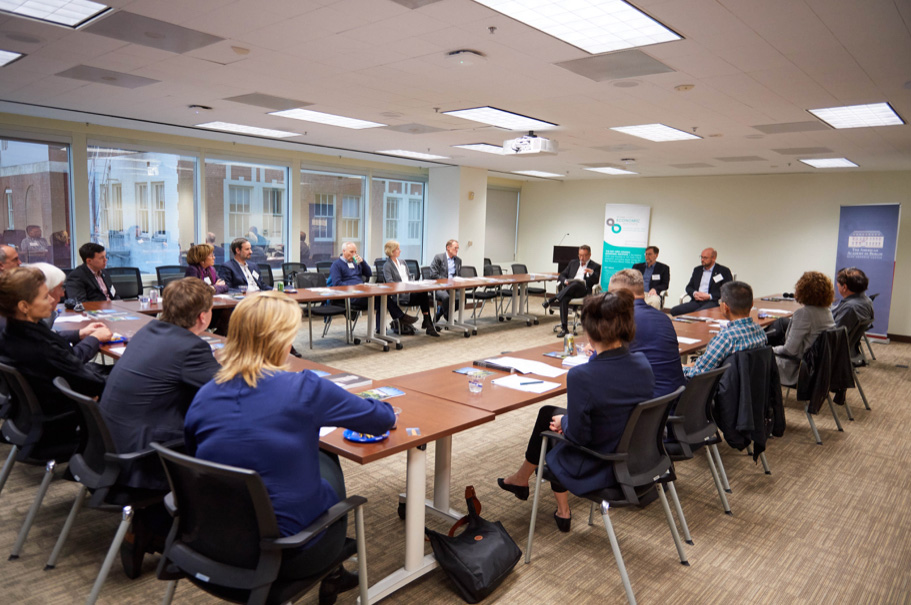 "The Academy's West Coast Initiative meeting ""Managing Disruption: How to Ensure that Society Benefits from Technology and Innovation,"" on March 15, at the Bay Area Council Economic Institute. Photo: Brian Byllesby"