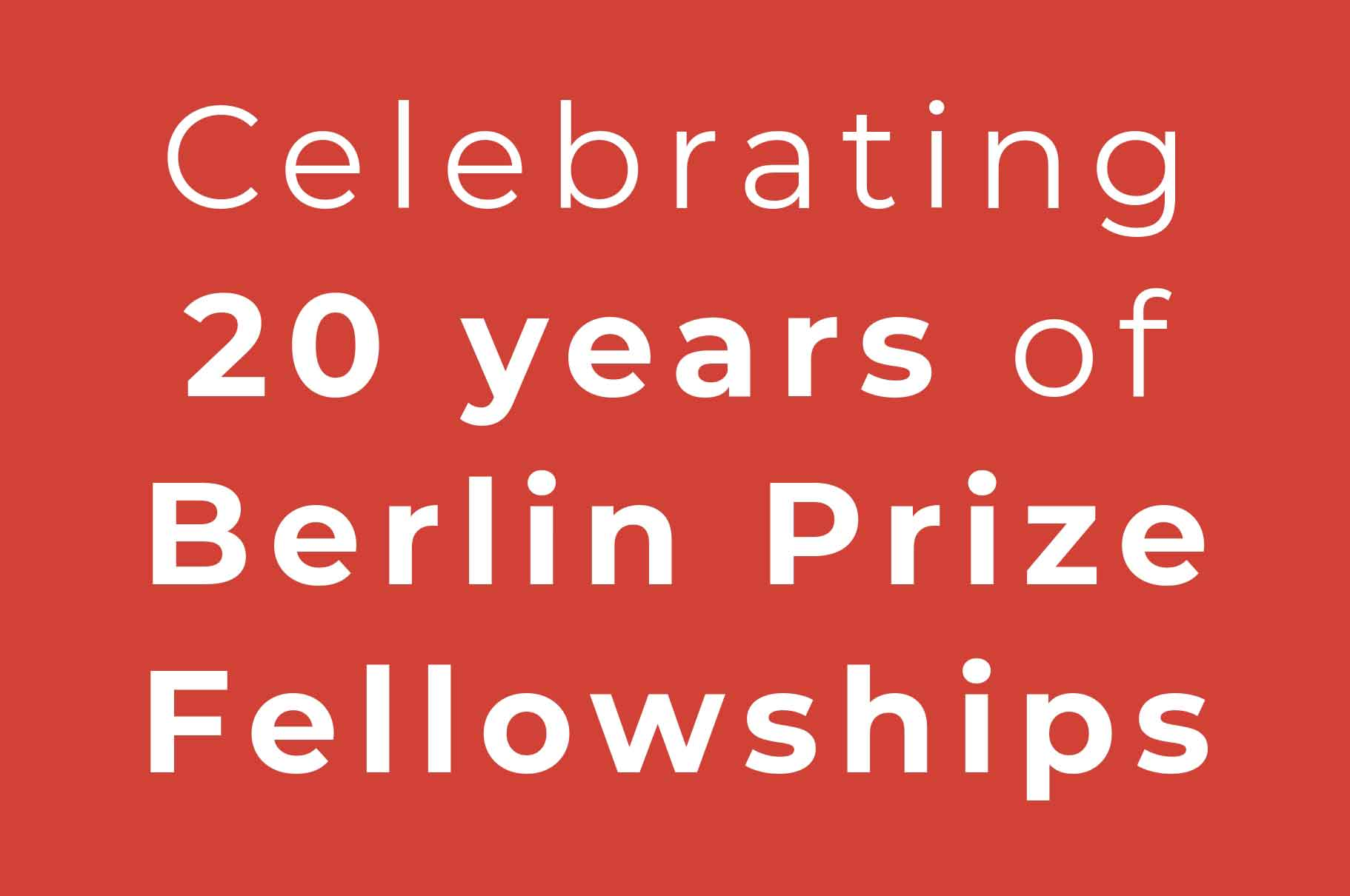 Celebrating Twenty Years Of Fellowships