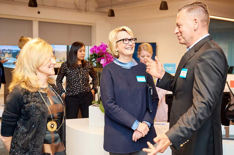 Maureen White & Gahl Burt (American Academy in Berlin); Hans-Ulrich Südbeck (German Consul General in San Francisco). Photo: Brian Byllesby