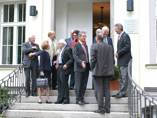 Candid photo of the Academy board in 2005. Wolfgang Mayrhuber furthest left. Photo: Mike Minehan