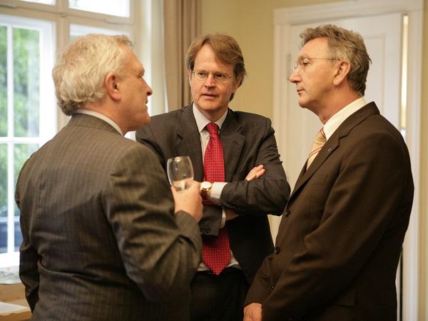 Josef Joffe, Stefan von Holtzbrinck, and Wolfgang Mayrhuber. Photo: Annette Hornischer