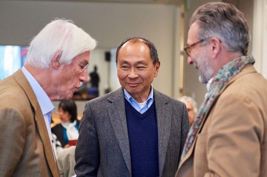 Gerhard Casper, Francis Fukuyama, Pascal Levensohn. Photo: Brian Byllesby