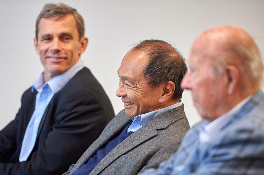 Terry McCarthy, Francis Fukuyama, George P. Shultz