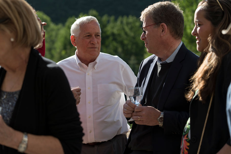 Author Walter Isaacson and The Atlantic's editor-in-chief Jeffrey Goldberg, an Academy fellow in spring 2015. June 24, 2019. Photo: Ian Wagreich