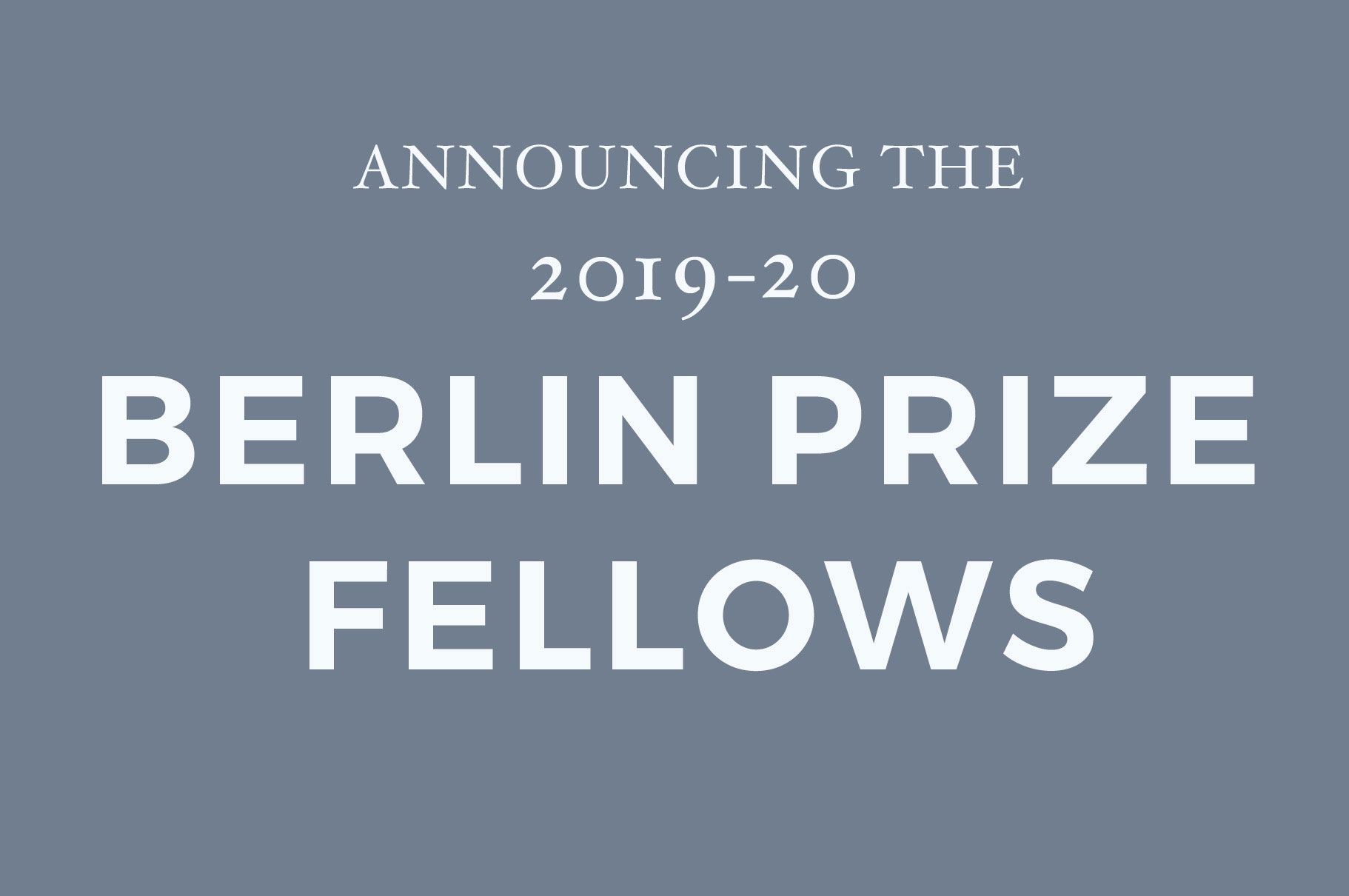 2019 20 Fellows