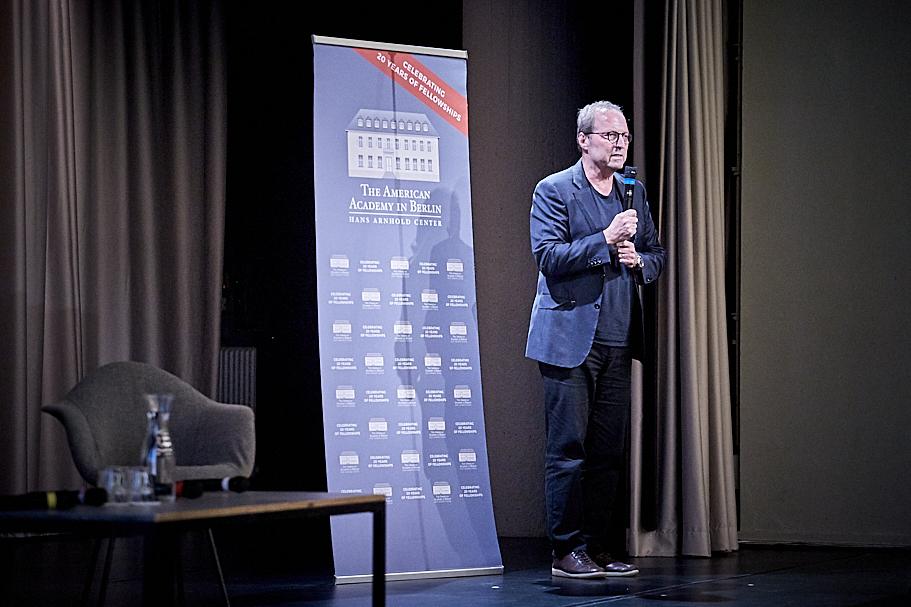 Michael P. Steinberg, an Academy alumnus and current academic advisor to the Mellon Fellowship, at Ronald Radano's public event at Haus der Kulturen der Welt, June 6, 2019. Photo: Ralph K. Penno