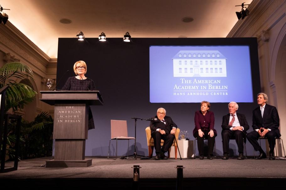 Academy chairman Gahl Burt speaking at the Kissinger Prize ceremony. Photo: Annette Hornischer