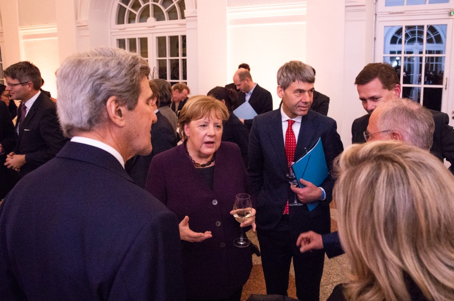 Chancellor Angela Merkel at the reception of the Henry A. Kissinger Prize. Photo: Annette Hornischer