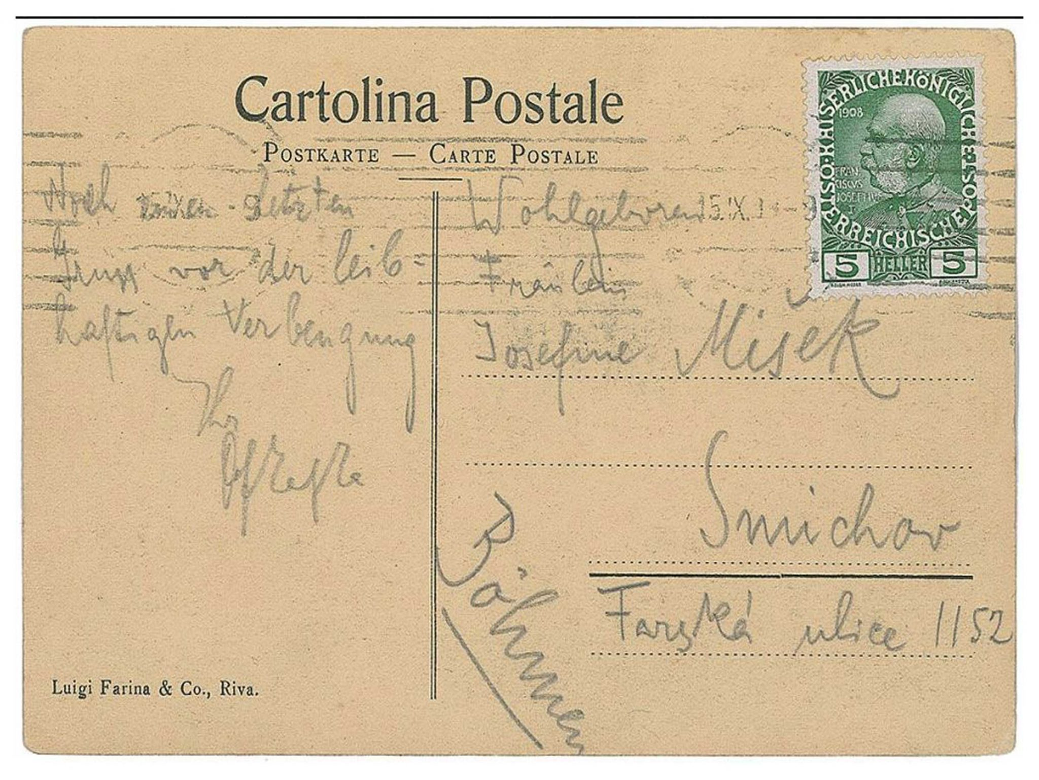 Franz Kafka and Walter Benjamin Discover the Postcard