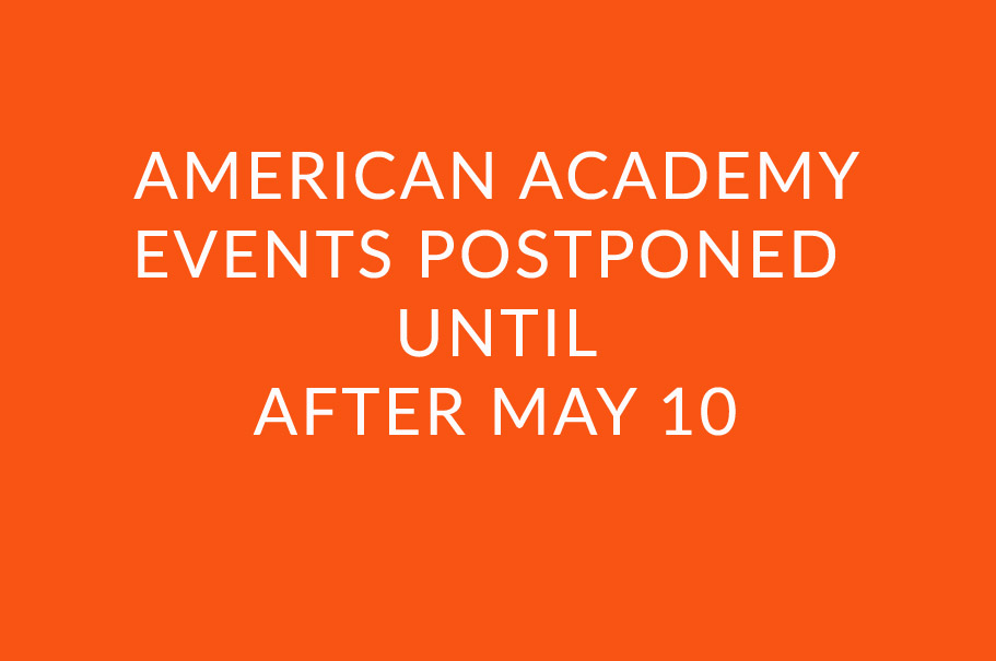 All American Academy Events Postponed