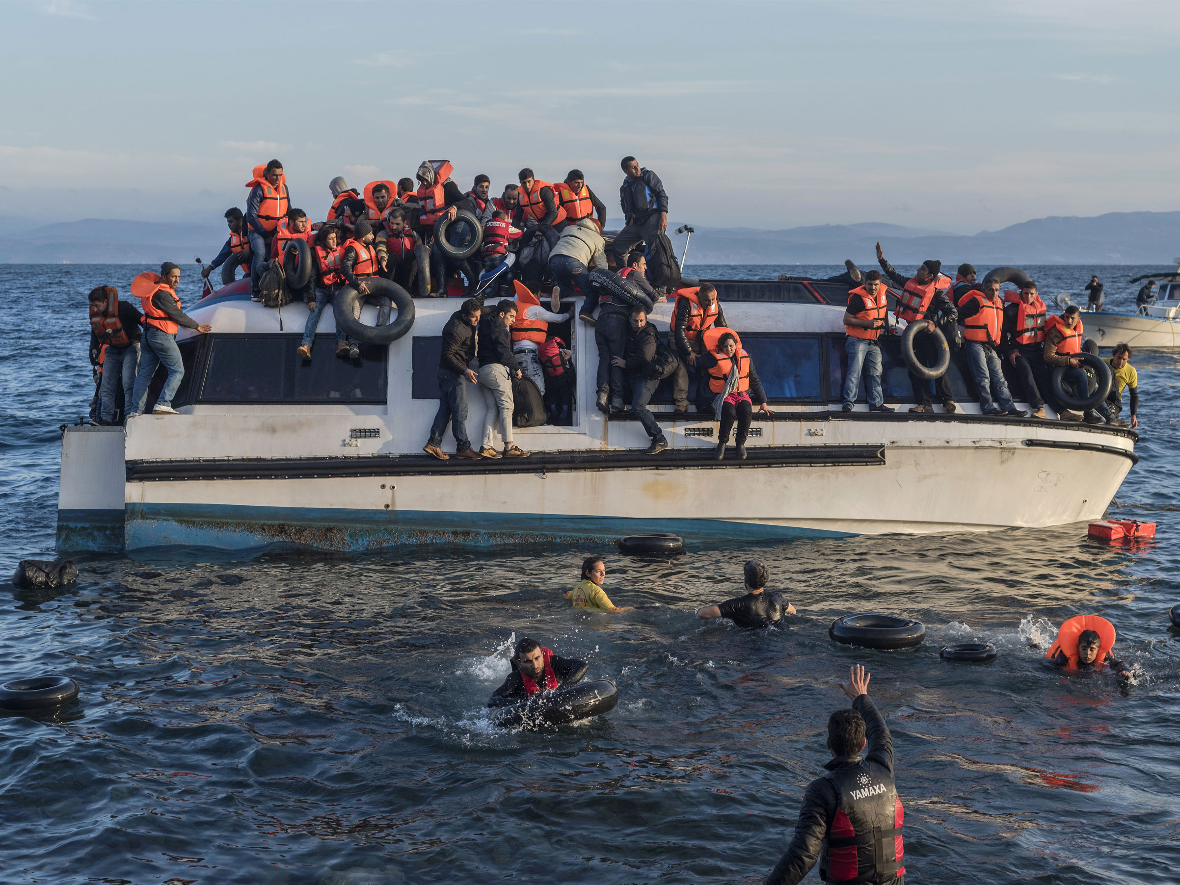 The Refugee Crisis: Crossing, Cutting and Burning the Mediterranean Seametery